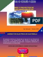 Acciones y Proyectos de Energia Renovable en Guatemala - Jorge Galindo