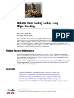 Reliable Static Routing Backup Using Object Tracking