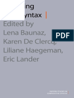 (Oxford Studies in Comparative Syntax) Lena Baunaz, Liliane Haegeman, Karen de Clercq, Eric Lander-Exploring Nanosyntax-Oxford University Press (2018)