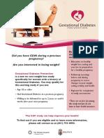 Gestational Diabetes Prevention Study