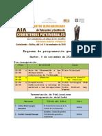 Programación definitiva con Mesas y Coordinadores XIX Encuentro Iberoamericano de Cementerios Patrimoniales