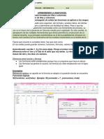 Aprendiendo a Usar Excel