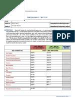 nursing skills checklist 8