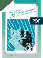Thomas Nagel-Que significa todo esto__ Una brevisima introduccion a la filosofia  -Fondo de Cultura Económica (2003)