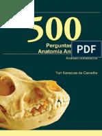 500 Perguntas Em Anatomia Animal - Animais Domésticos