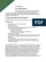 Audition Procedure