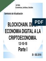 Blockchain Clase 3-1 (12!10!18) Parte I
