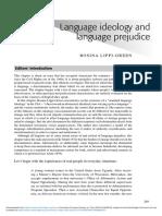 Lippi-Green - Language Ideology and Language Prejudice