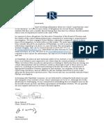 Randolph School Letter