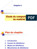C5 Etude Du Comportement Du Matériel