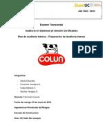Examen Transversal Auditoría