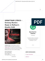 GIRAFTAAR LYRICS - Emiway Bantai _ Reply to Raftaar's Sheikh Chilli
