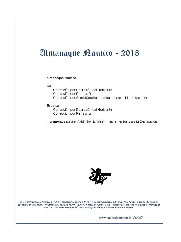 Almanaque Nautico 2018 Pdf