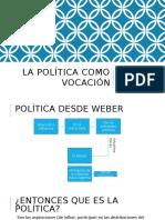 La Política Como Vocación max weber