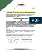 Actividad 3 Derivacion de Orden Superior e Implicita