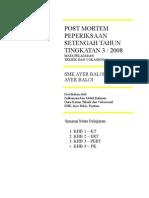 Post Mortem Peperiksaan Setengah T3  Tahun 2008
