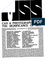 Mss.can the Photograph Have the Significance of Art