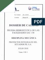 Pruebas Hidrostáticas Sac-150