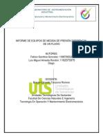 Informe Dispositivos de Medicion de Flujo