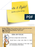 Qualities Good Writing Parts Composition