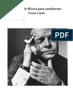 Prólogo Música Para Camaleones  - Truman Capote