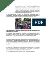 Que Relación Tiene El Desarrollo Humano Con El Mercado Mundial y Guatemala