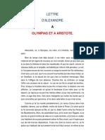 Carta deAlejandro Magnoa Aristóteles