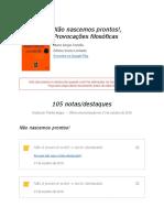 Notas de %22Não nascemos prontos!, Provocações filosóficas%22.pdf