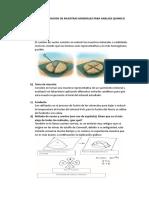 Muestreo y Preparacion de Muestras Minerales Para Analisis Quimico