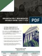 Organización y Movimientos Sociales Entre 1950 y 1970