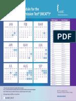 18-201 2019 MCAT Schedule Calendars f Can