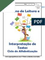 Caderno de Interpretação de Textos - Ciclo de Alfabetização