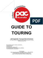 PACA Guide to Touring Touring Code of Conduct Updated April 2018 (1)