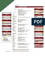 CIS School Calendar 2019-20