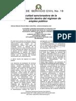 Revista La Facultad Sancionadora de La Administracion Dentro Del Regimen de Empleo Publico