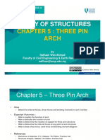 Chapter 5 – Three Pinned Arch