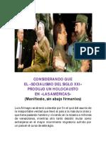 Declaración de Guerra Al Comunismo (Manifiesto)