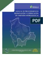 delimitacion-unidades-hidrograficas-método Pfafstetter