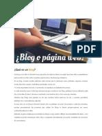 Blog o Web