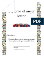 Diploma Al Mejor Lector