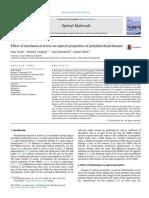 Efecto Del Esfuerzo Mecánico Sobre Las Propiedades Ópticas Del PDMS