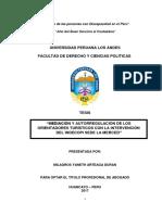 """Mediación y Autorregulación de Los Orientadores Turísticos Con La Intervención Del Indecopi Sede La Merced"""""""