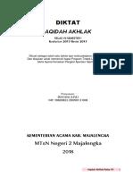 Diktat Aqidah Akhlak MTs Kelas 7 2018 By IzanSyaddad ALC