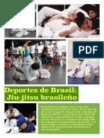 Poster jornadas culturales Brasil