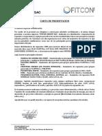 Carta de Presentación FITCON GROUP SAC