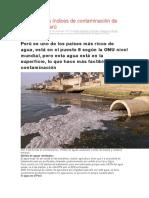 Contaminación de Agua en Los Rios y lagos  Del Perú Por Las Empresas Industriales11111111111111111