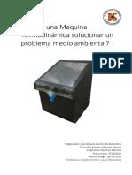 Desalinización  - Informe Investigación Maquinas Termodinámica