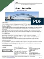 Sydney Guidebook