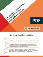 5° SESIÓN-LA COMUNICACIÓN NO VERBAL Y SUS ELEMENTOS EN