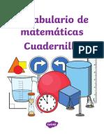 Cuadernillo - Vocabulario de Matematicas